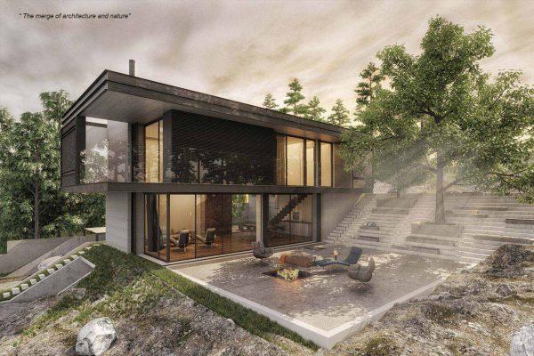 akl architects- residential villa - mrouj abou chanab lebanon