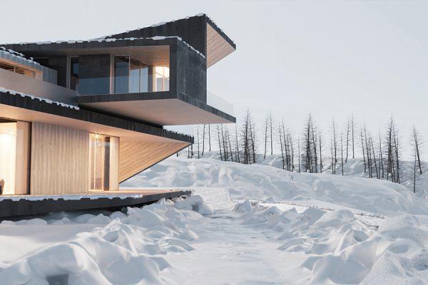 akl architects - zaarour villa winter lebanon 1