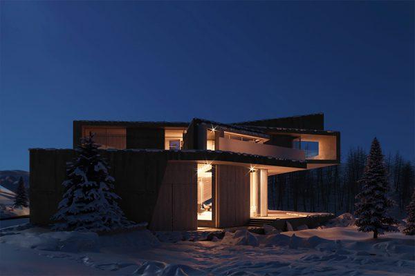 akl architects - zaarour villa winter lebanon 11
