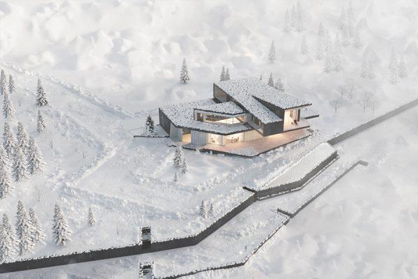 akl architects - zaarour villa winter lebanon 12