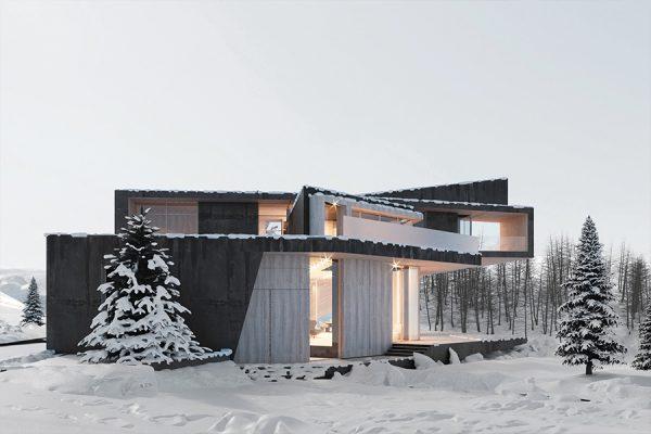 akl architects - zaarour villa winter lebanon 13