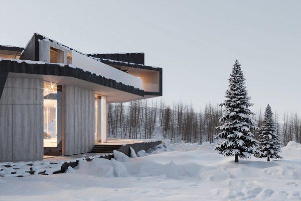 akl architects - zaarour villa winter lebanon 17