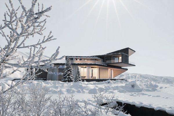 akl architects - zaarour villa winter lebanon 6