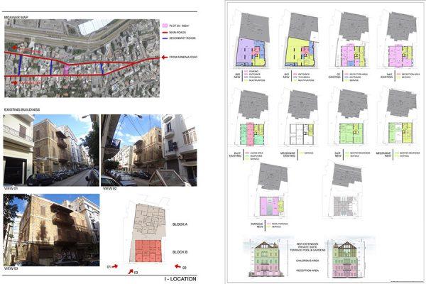 AKL ARCHITECTS - C HOTEL PARTICULER - PRIVATE RESIDENCE - RESTAURATION - BEIRUT GOURAUD STREET - LEBANON (6)