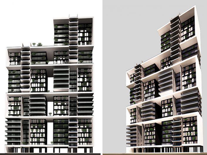 COMPETITION CARLTON RESIDENTIAL BUILDING - BEIRUT - LEBANON